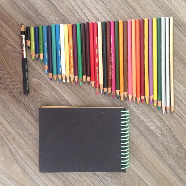 My pencil set by usage, I've had these pencils since I was 15. Craft paper scrap notebook from The Guild in Northampton