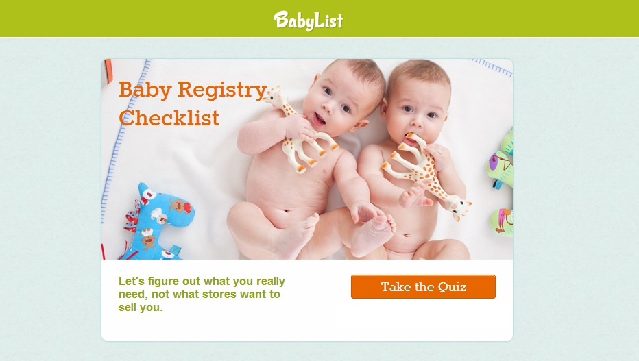 Create a Free Baby Registry to afford all the must-have baby items and services.