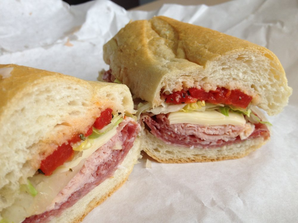 """The Rosie"" from Conte Di Savoia Italian grocery store near UIC. I plan my flights to Chicago based on arriving in time for lunch."