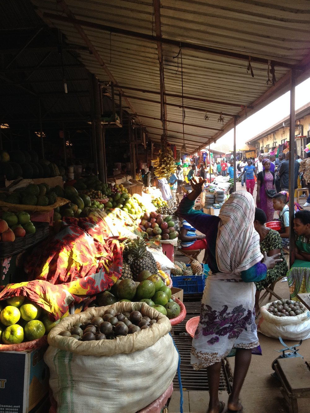 Kimironko day market in Kigali. The original farm to table.