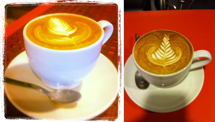 Cappuccinograms taken by coffee pals, Dan Forsythe & Eric Madison