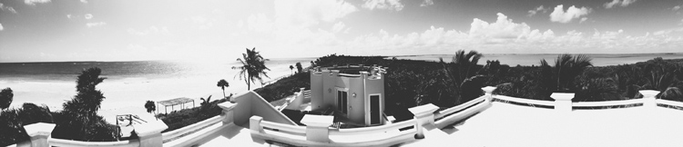View of the Caribbean on the left, and the peninsula on the right. Taken on top of the groom's house for the week.