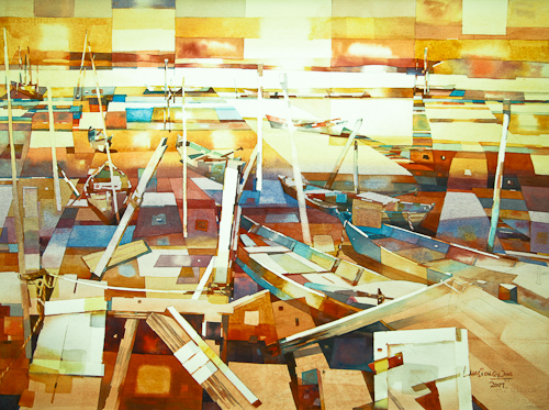Fishing Boats,  56 x 76 cm