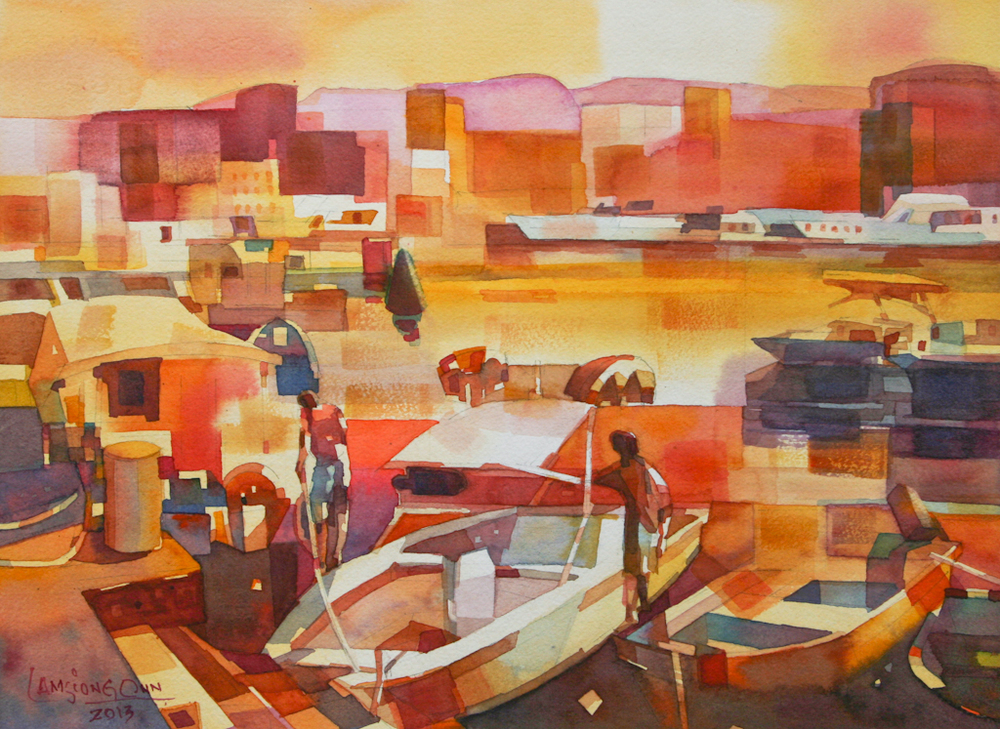 Fishing Boats #1,   2013, 27 x 37 cm