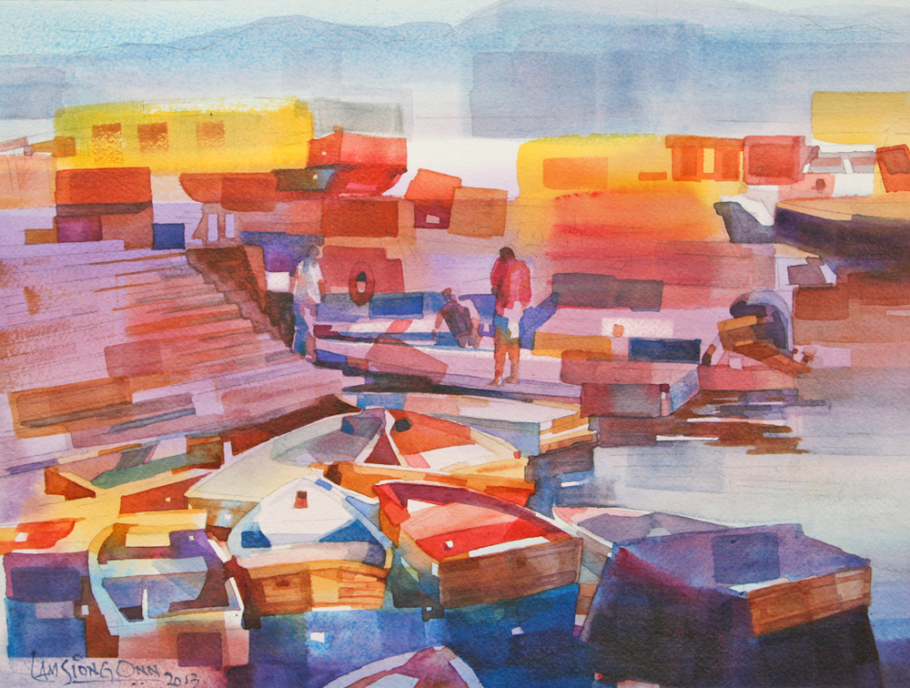 Fishing Boats #2,   2013, 27 x 37 cm
