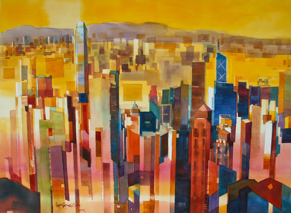 Downtown Hong Kong,   2013, 56 x 76 cm