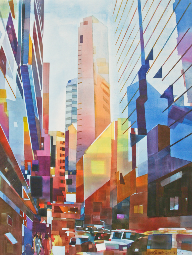 Vertical City ,   2014, 76 x 56 cm
