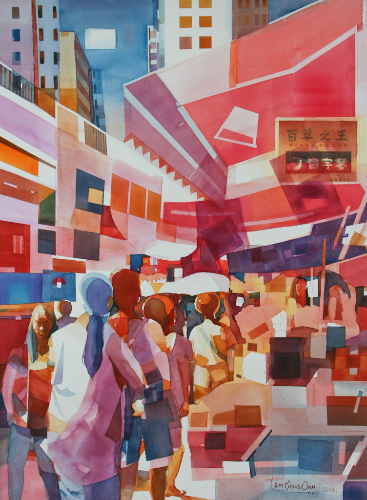 Day at The Market ,   2014, 76 x 56 cm