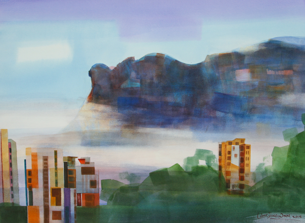Lion Rock Mountain,   2014, 56 x 76 cm