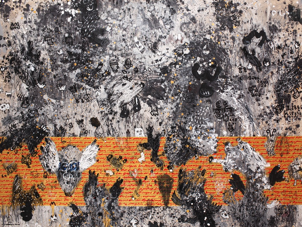 Dedy SUFRIADI,  Objects of Identification #3 , 2015, Mixed media on canvas, 150 x 200 cm