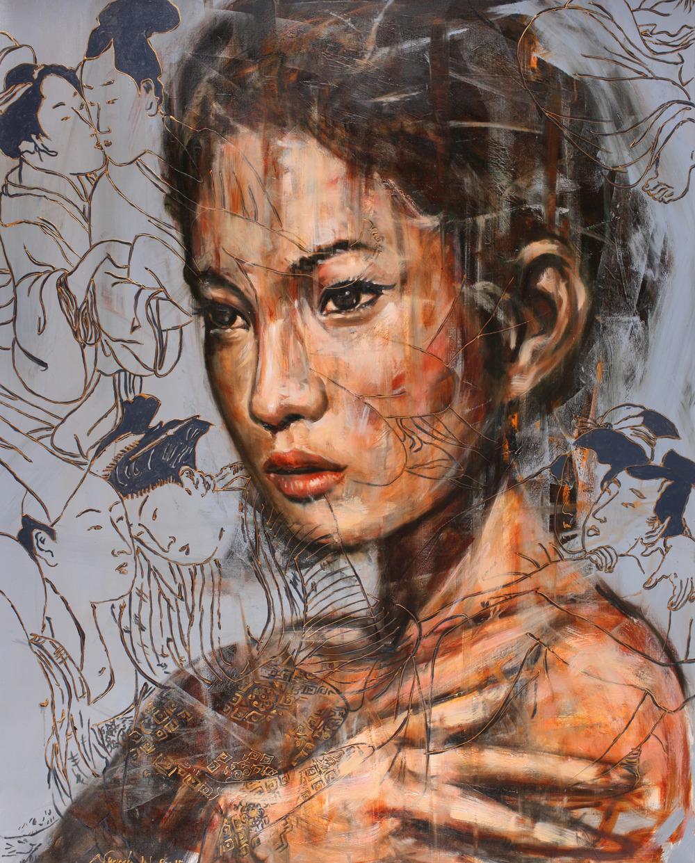 Nugroho WIJAYATMO, Oriental #3 , 2015, Acrylic on canvas, 150 x 120 cm