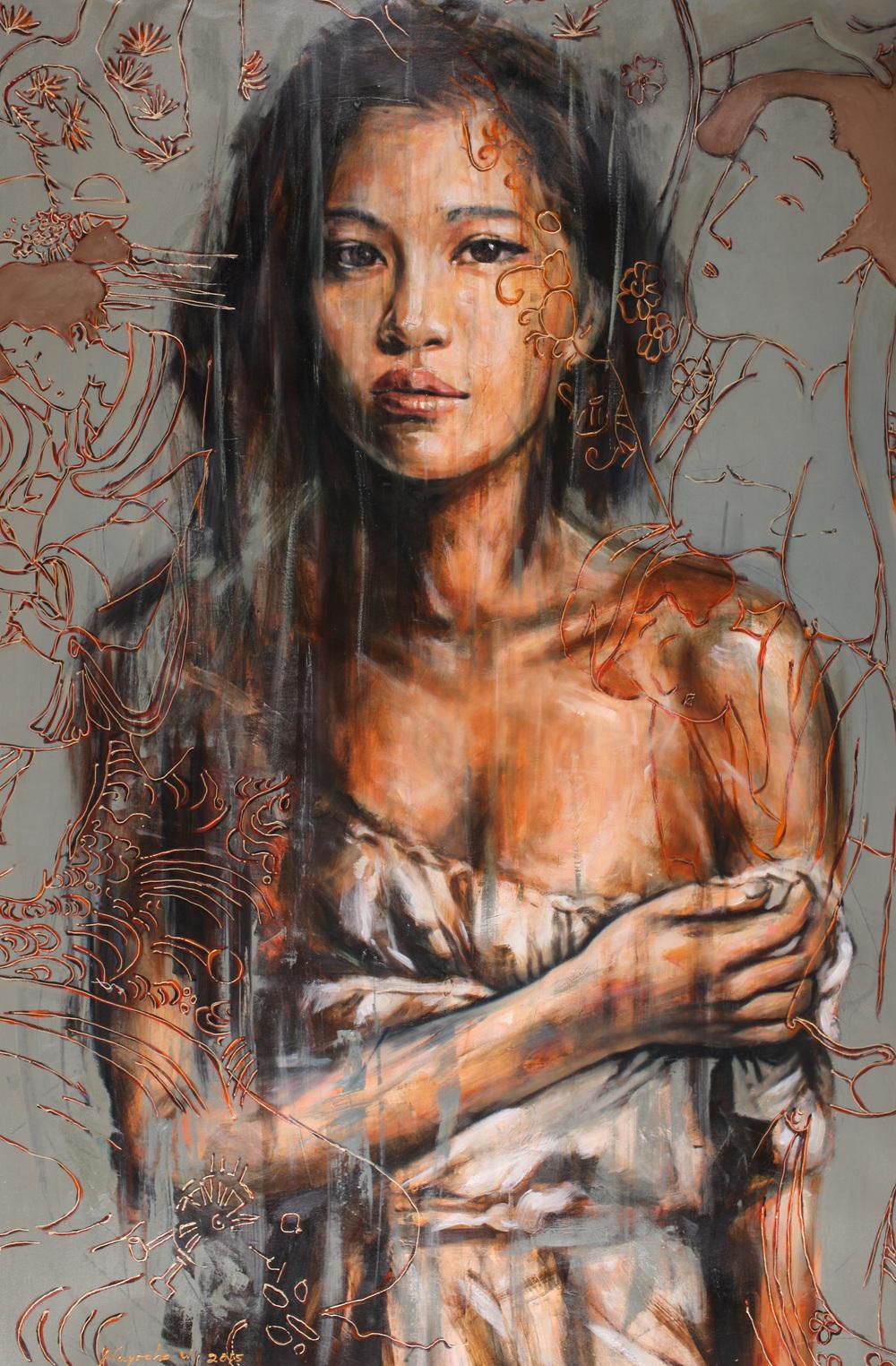 Nugroho WIJAYATMO, Oriental #5 , 2015, Acrylic on canvas, 150 x 100 cm