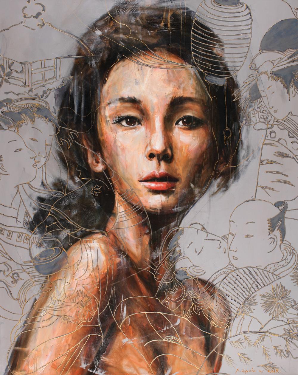 Nugroho WIJAYATMO, Oriental #6 , 2015, Acrylic on canvas, 150 x 120 cm