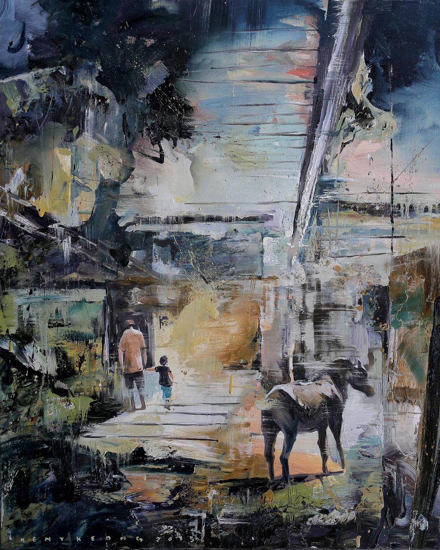 Stroll |溜達, 2015, 100 x 80 cm