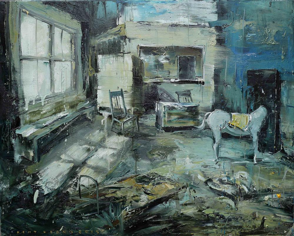 Studio With A Horse |有馬的工作室, 2014, 80 x 100 cm