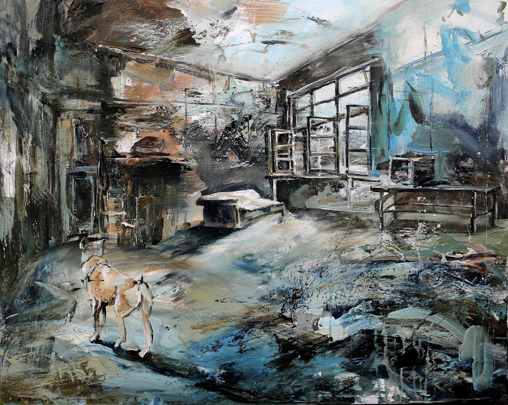 Inside. Outside. #2 | 窗旁, 2015, 80 x 100 cm