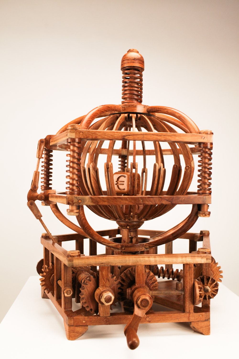 Fate Machine #1 , Teak Wood, 2016, 56L x 60W x 66Hcm