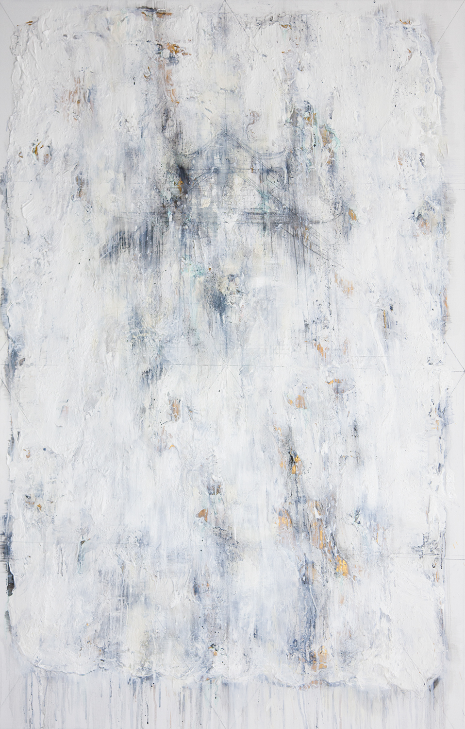 Foggy Days At Lake #1, 2016, Mixed Media on Canvas, 140 x 90 cm, HA Manh Thang