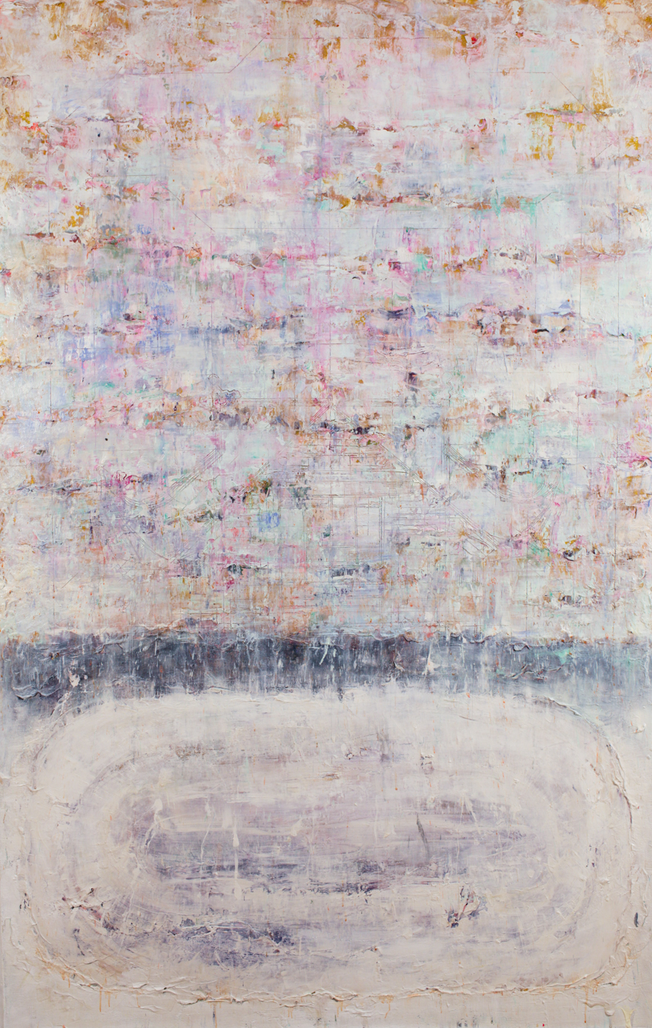 Fall Time At Lake, 2015, Mixed Media on Canvas, 185 x 120 cm, HA Manh Thang