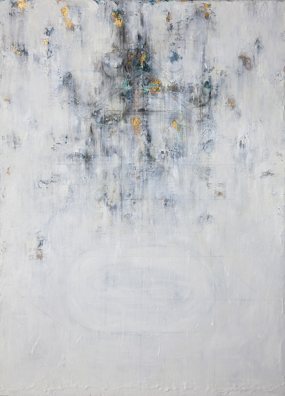Foggy Days At Lake,  2016, Mixed Media on Canvas, 150 x 110 cm, HA Manh Thang