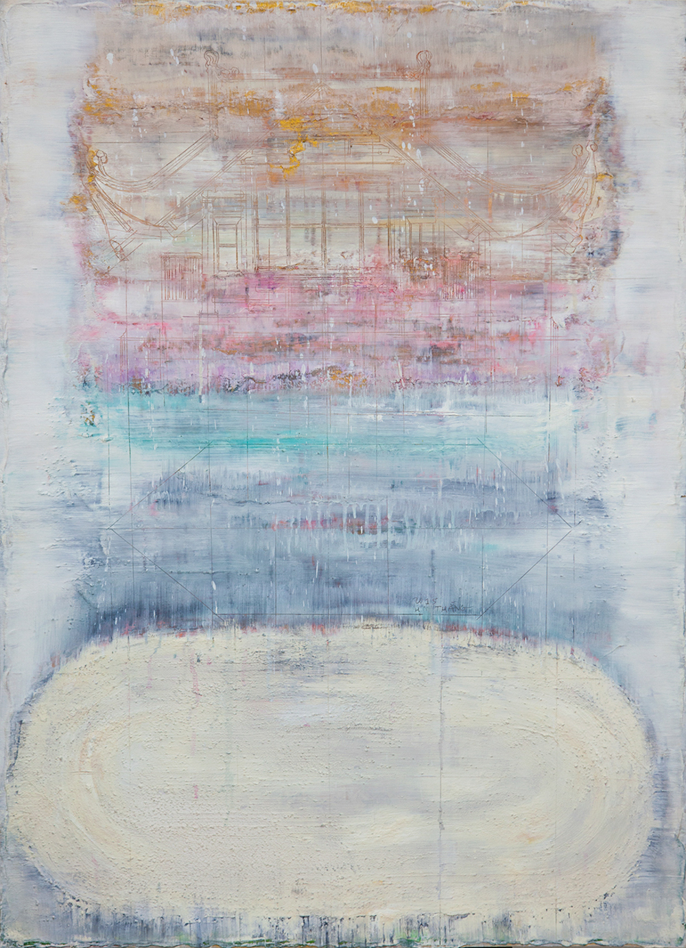 Foggy Morning, 2015, Mixed Media on Paper, 102 x 72.5 cm, HA Manh Thang