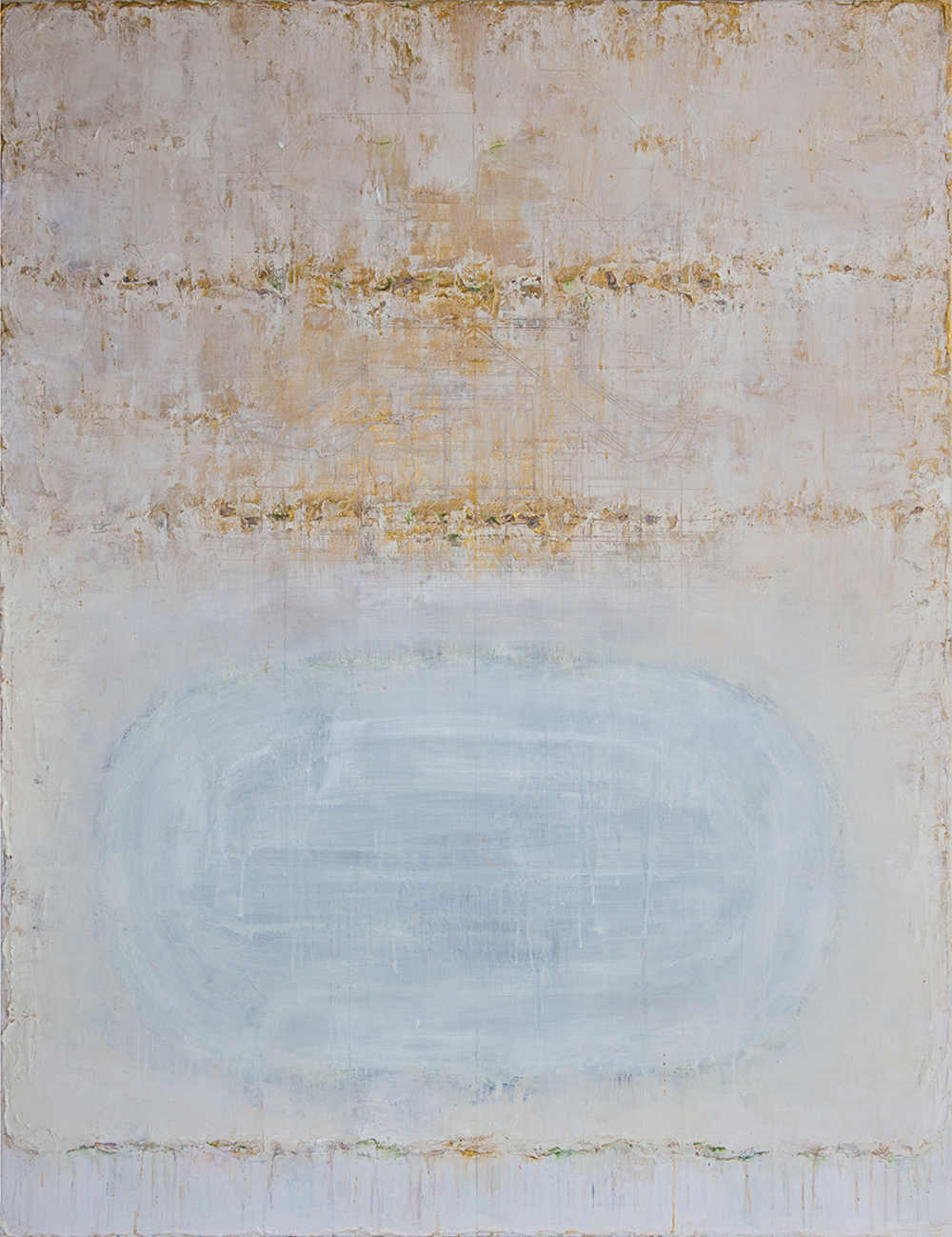 Golden Light #4, 2015, Mixed Media on Canvas, 150 x 120 cm, HA Manh Thang
