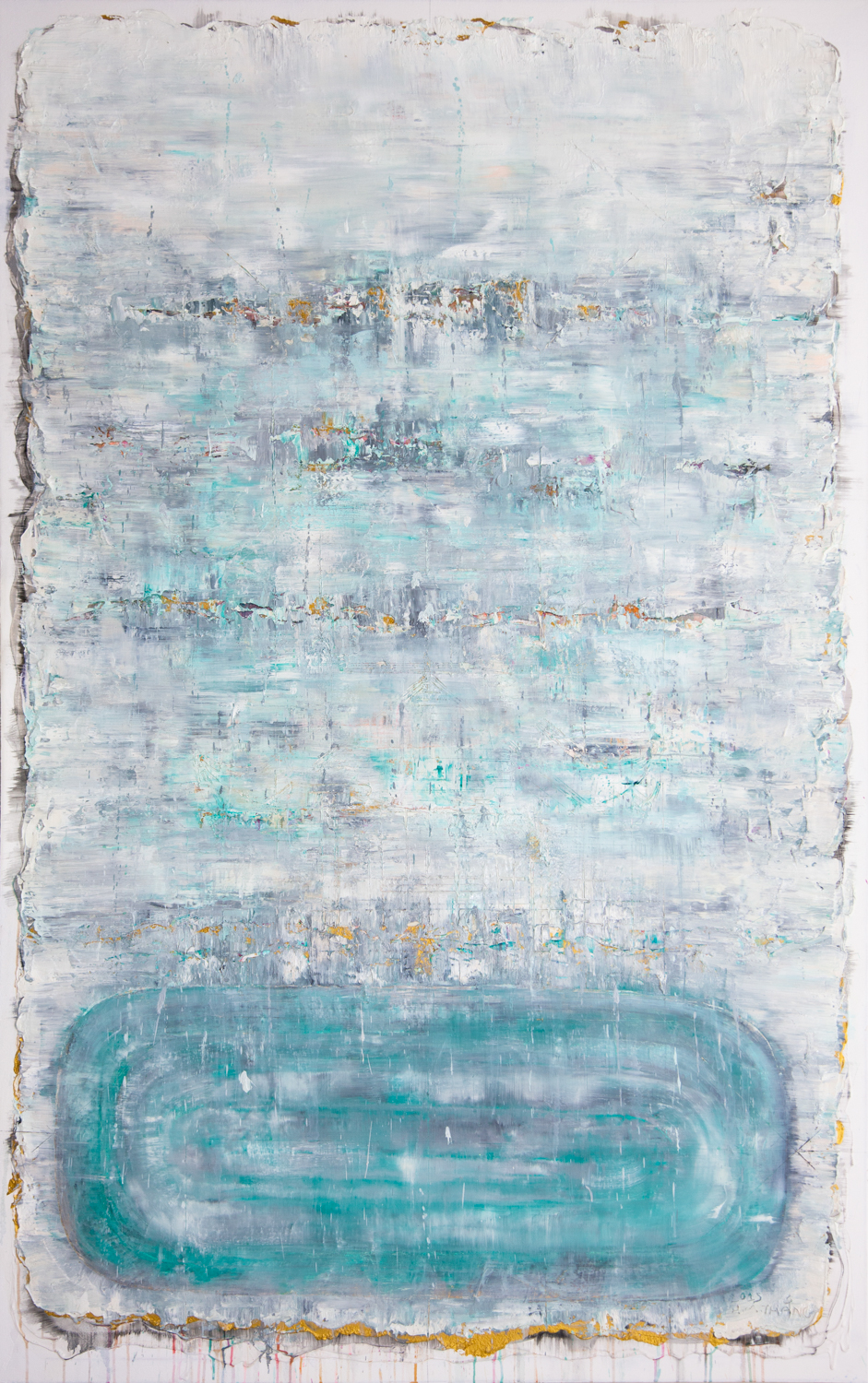 Lake At Changing Season, 2015, Mixed Media on Canvas, 185 x 120 cm, HA Manh Thang