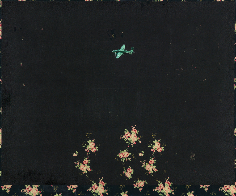 Night Flight |  遊黑, 2014, Oil and Acrylic on Printed Fabric, 60.5 x 70 cm, CHI Chien