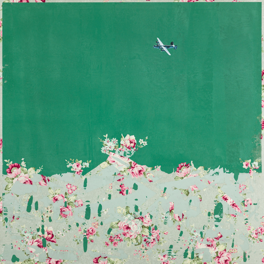 Participate | 與 , 2015, Oil and Acrylic on Printed Fabric, 95 x 95 cm, CHI Chien