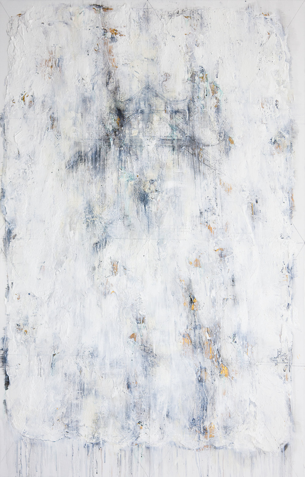 Foggy Days At The Lake #1, 2016, Oil, Acrylic and Charcoal on Canvas, 140 x 90 cm, HA Manh Thang