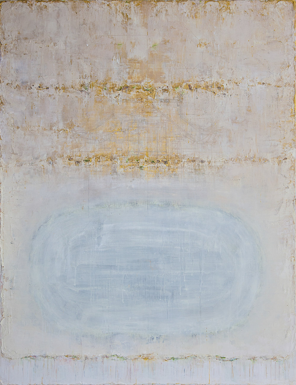 Golden Light #4, 2015, Oil, Acrylic and Charcoal on Canvas, 150 x 120 cm, HA Manh Thang