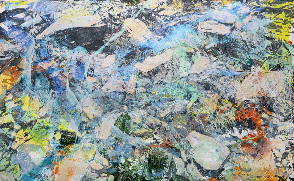 Plants and Mountain #2 | 山壁的植物#2, 2016, Acrylic on Canvas, 72.5 x 116.5 cm, SHIU Sheng Hung | 許聖泓