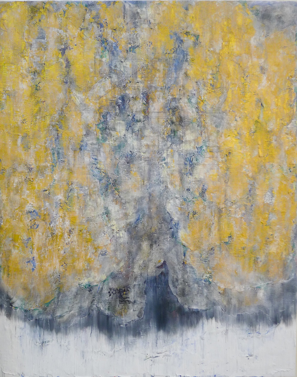 The Golden Light #3 , 2016, Oil, Acrylic, Acrylic Medium and Charcoal on Canvas, 150 x 110 cm