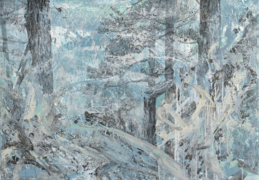 Silver Afternoon | 銀白的下午, 2017, Acrylic on Canvas, 70 x 100 cm, SHIU Sheng Hung | 許聖泓
