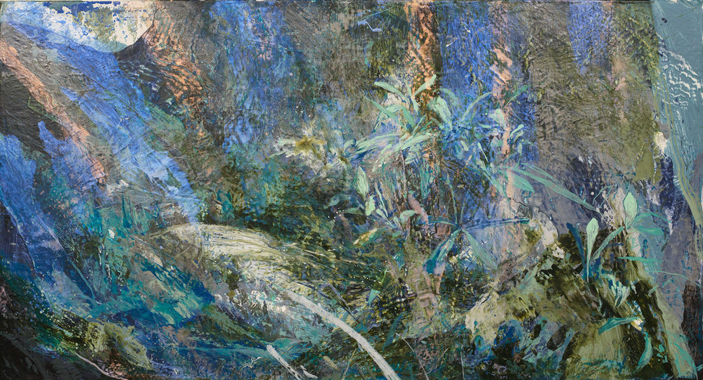 Forest #9 | 森林 #9, 2016, Acrylic on Canvas, 80 x 150 cm, SHIU Sheng Hung | 許聖泓