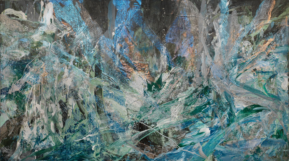Shiu Sheng Hung, Forest #15 _  森林15 Forest 15, Acrylic on canvas, 112x200cm
