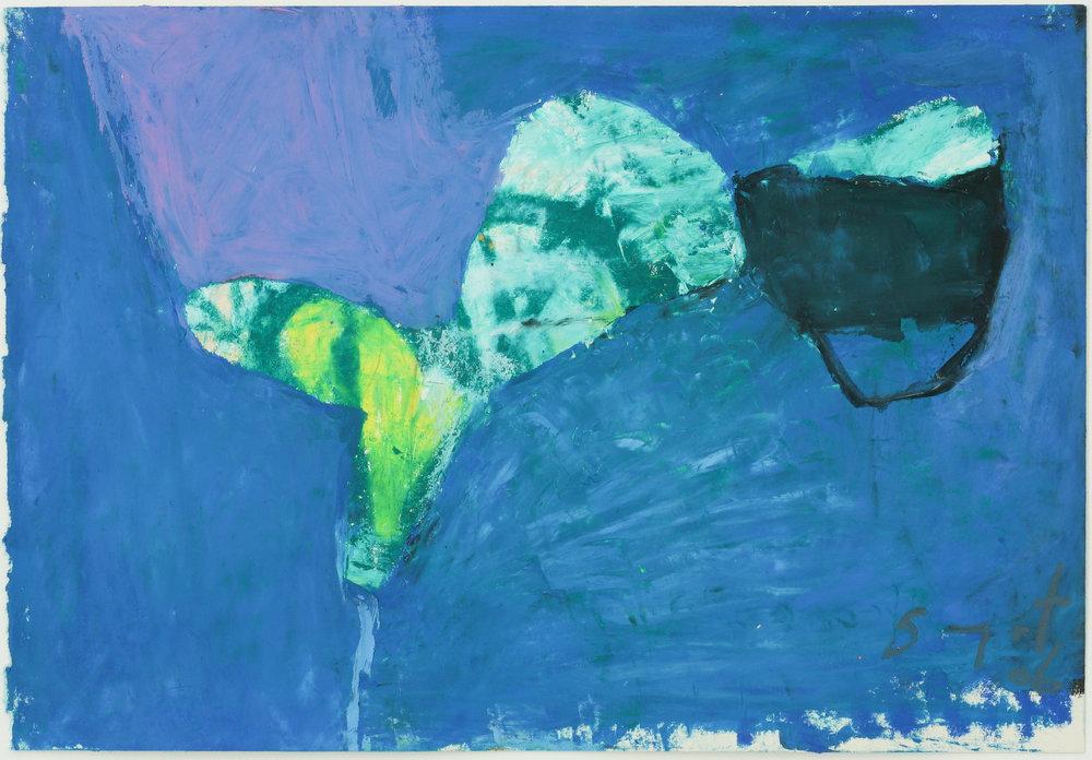 Somyot Hananuntasuk, #07, 2018, Oil Pastel on Paper, 18 x 26 cm, Affinity Art