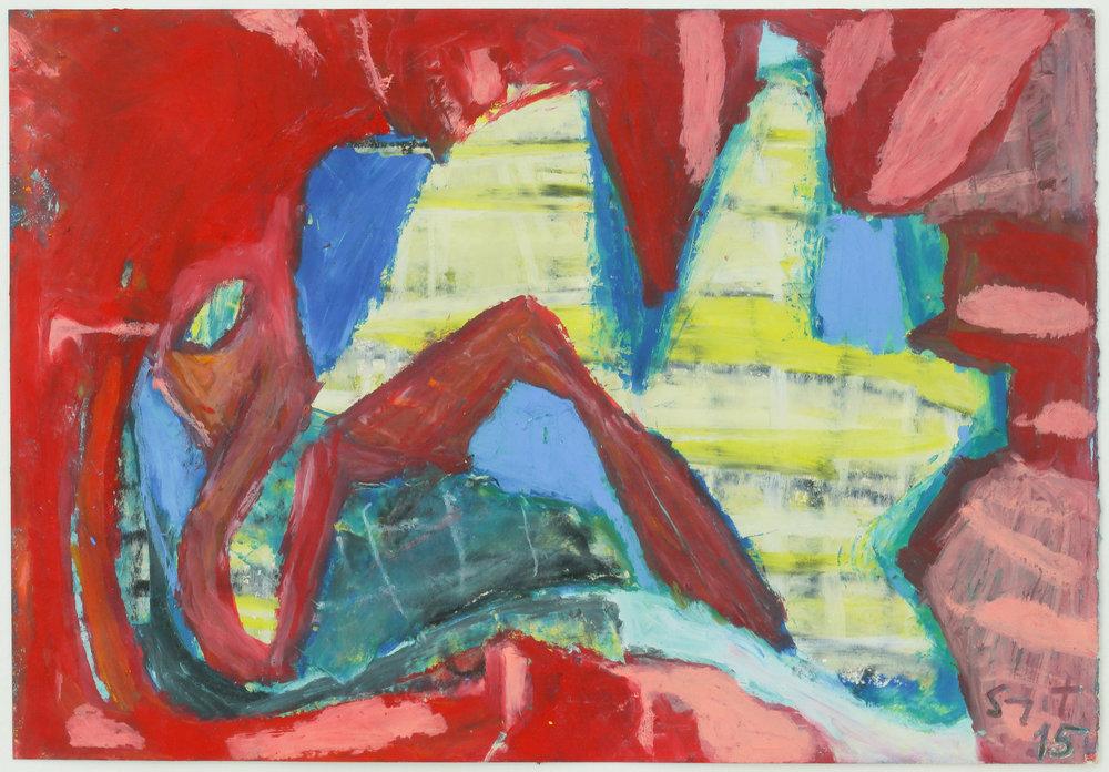 Somyot Hananuntasuk, #28, 2018, Oil Pastel on Paper, 18 x 26 cm