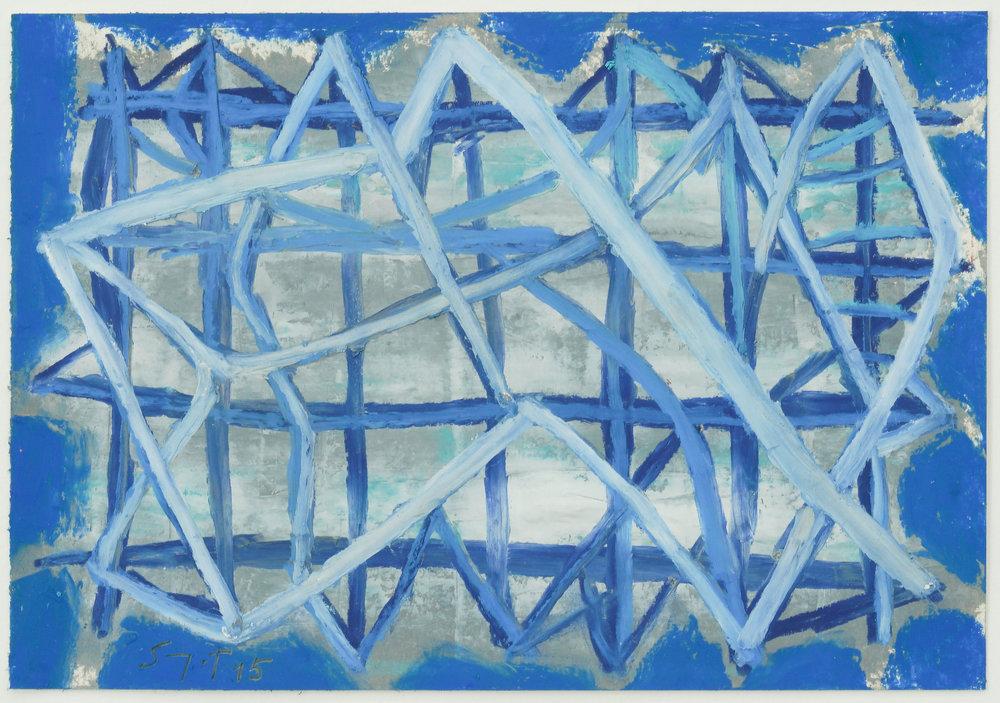 Somyot Hananuntasuk, #29, 2018, Oil Pastel on Paper, 18 x 26 cm, Affinity Art