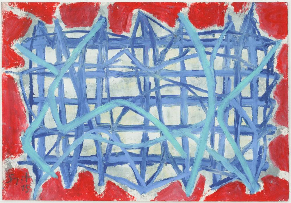 Somyot Hananuntasuk, #31, 2018, Oil Pastel on Paper, 18 x 26 cm, Affinity Art