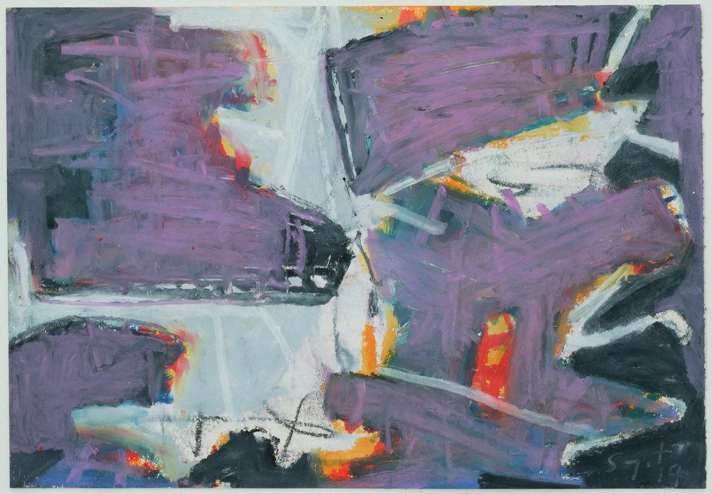 Somyot Hananuntasuk, #06, 2018, Oil Pastel on Paper, 18 x 26 cm, Affinity Art
