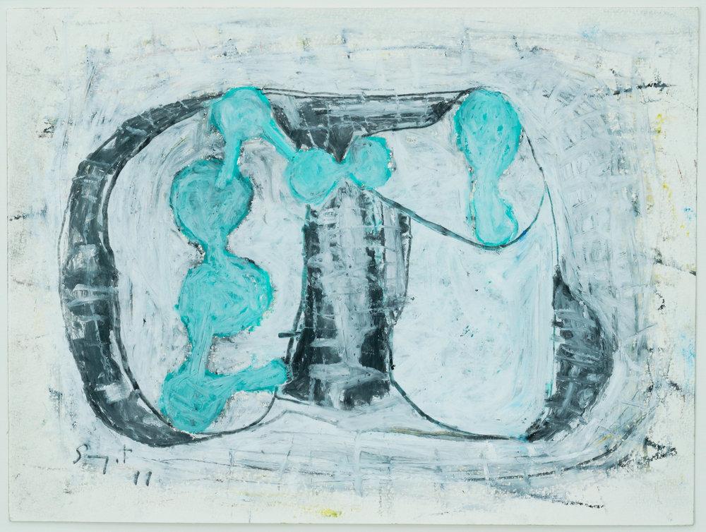 Somyot Hananuntasuk, #05, 2018, Oil Pastel on Paper, 24 X 32 cm, Affinity Art