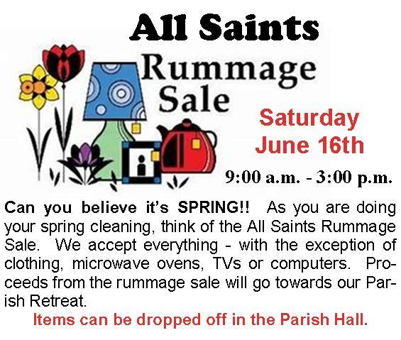All Saints Rummage Sale — All Saints Catholic Church