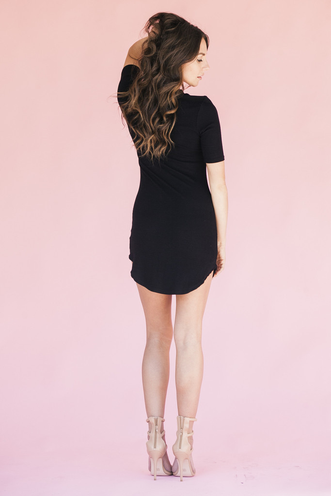 BLACK MAGIC ROUND HEM DRESS