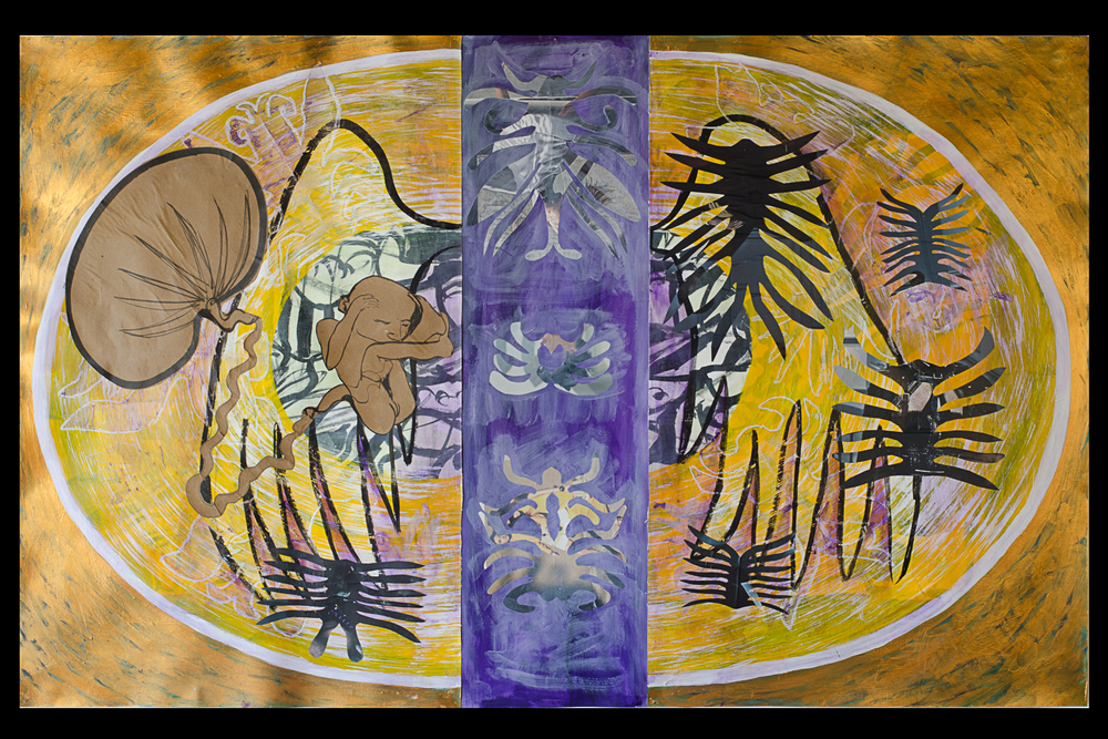 "Present  Part 2 of Triptych - each 61"" x 38"""