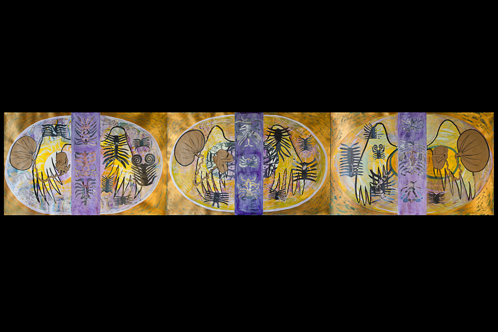 "Past, Present, Future  Triptych - 183"" x 38"""