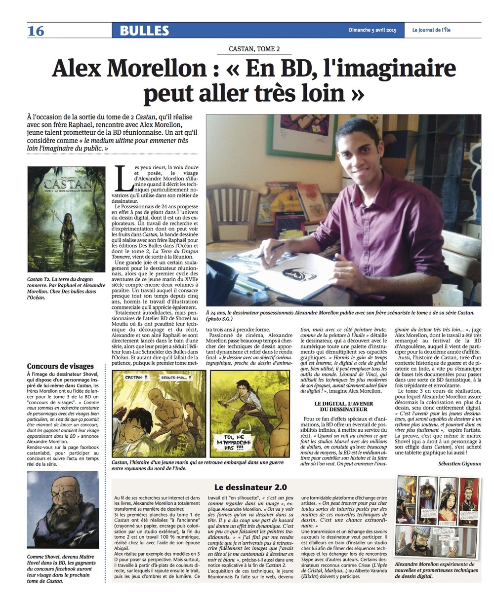 Interview Alex Morellon - Castan 2 par le JIR