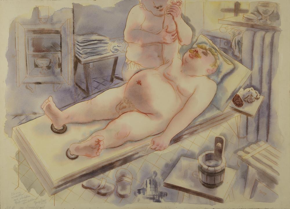 George Grosz - Sauna - 1930 - GALLERIA DE'FOSCHERARI.jpg