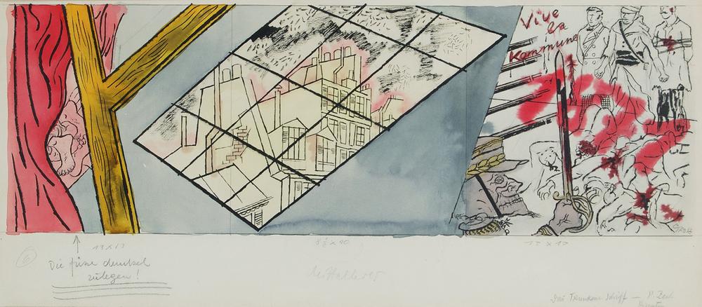 George Grosz -vive la kommune acquarello 1925 - GALLERIA DE FOSCHERARI .jpg