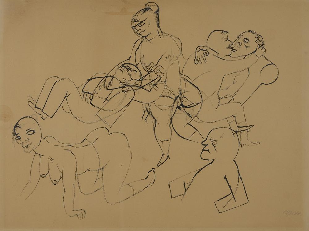 George Grosz - Gli amanti - GALLERIA DEì FOSCHERARI .jpg